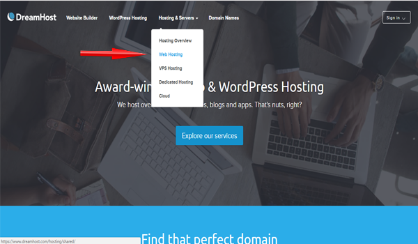 dreamhost giao diện