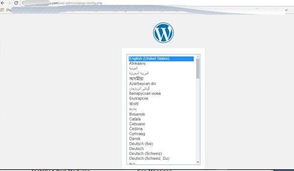 cách cài đặt website wordpress