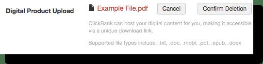 xác nhận xoá nội dung trên clickbank
