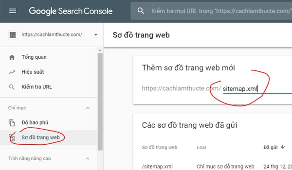 Cach Gui Sitemap Trong Search Console