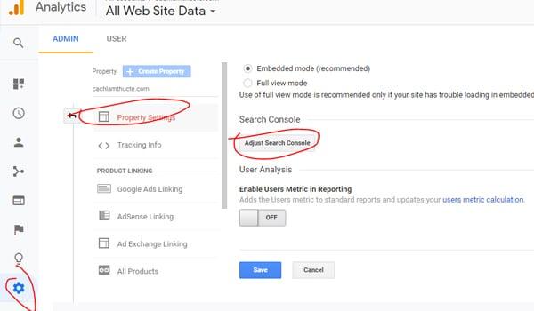 Cach Lien Ket Google Analytics Voi Search Console