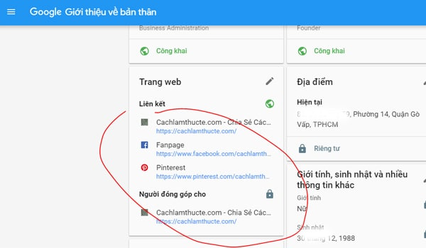 Cach Lien Ket Google Plus Voi Web Khac