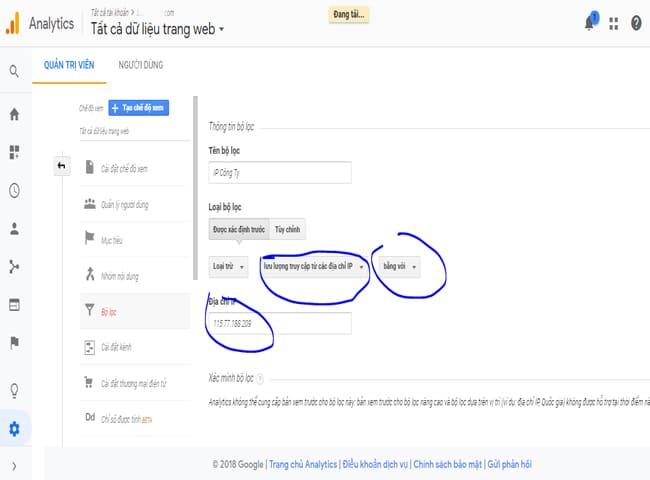 Cach Loc 1 Dia Chi Ip Nhat Dinh Trong Google Analytics