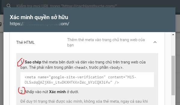 Cach Xac Minh Chu So Huu Website Trong Search Console