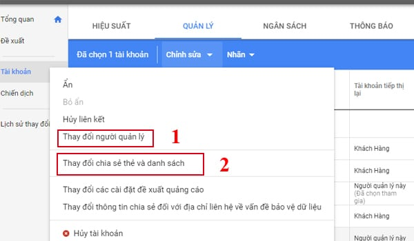 Cach Chia Se Danh Sach Tiep Thi Lai Trong Google Mcc