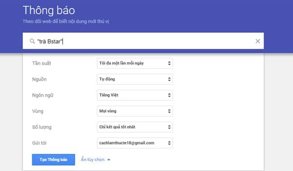 Cach Nhap Tu Khoa Vao Trong Google Alerts