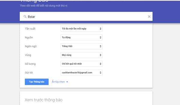 Vi Du Ve Su Dung Google Alerts