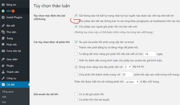 Bo Pingback Trong Cai Dat Website