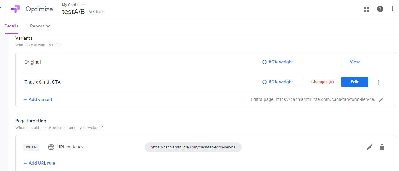 Them Bien The Trong Google Optimize